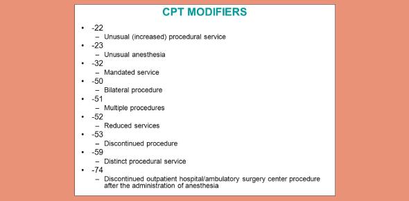 CPT Modifiers Quiz