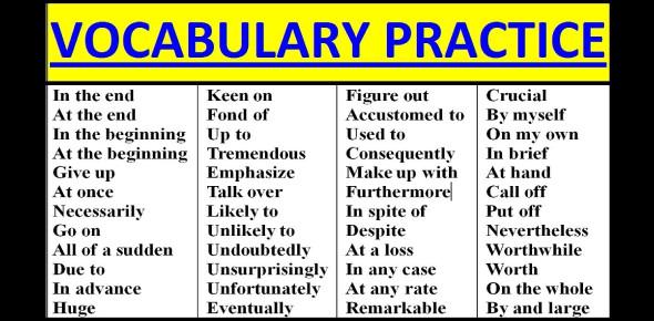 Intermediate Vocabulary And Grammar Exam! Quiz