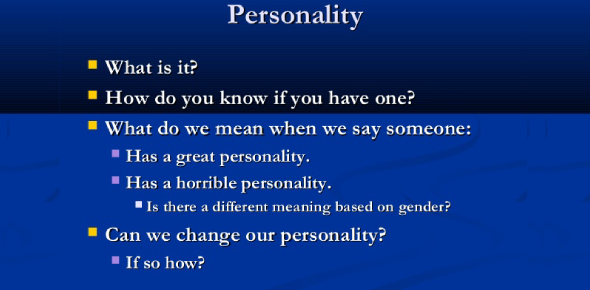 What Does Personality Mean?
