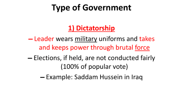 Questions On Types Of Government! Trivia Quiz