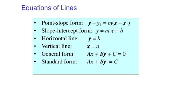 Equations Of Lines Quiz! Math Trivia