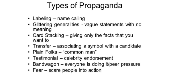 A Trivia Quiz On Types Of Propaganda!