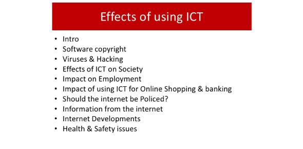 The Effects Of Using ICT : Trivia Quiz