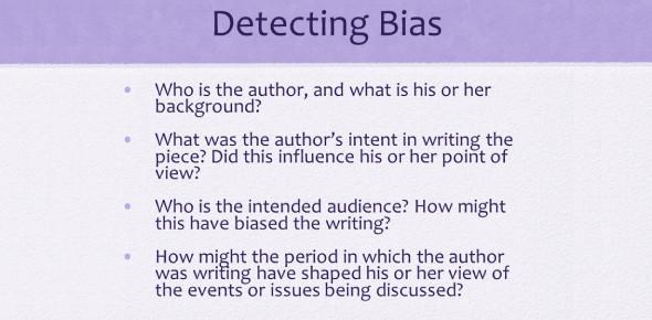 Detecting Bias Quiz
