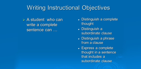 Quiz On Writing Instructional Objectives! Trivia