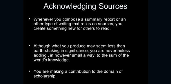 Acknowledging Sources: Avoiding Plagiarism! Quiz