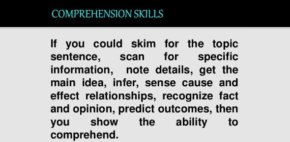 Basic Comprehension Skills Quiz! Trivia