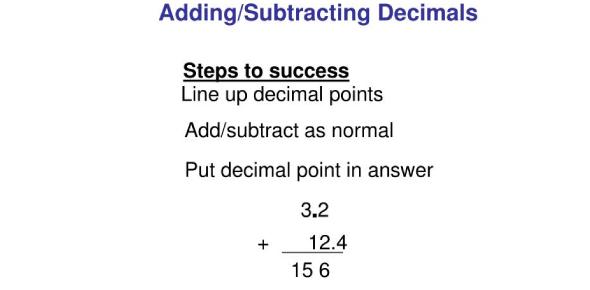Addition And Subtraction Of Decimals! Quiz