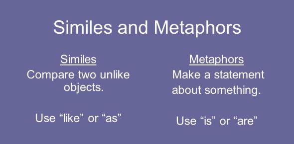 Metaphors Vs Similes Quiz