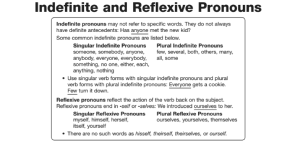 Indefinite And Reflexive Pronouns: Quiz!