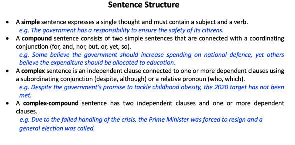 Sentence Structure Practice Exam Quiz!