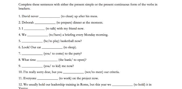 Present Simple And Progressive Tense Quiz!