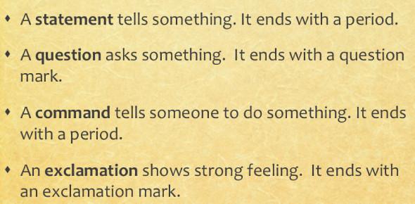 Exam On Sentences: Quiz!