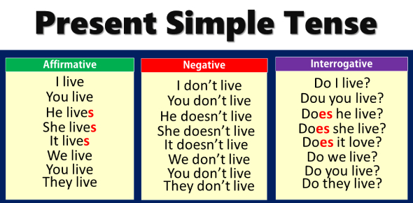 An English Grammar Present Simple Tense Quiz
