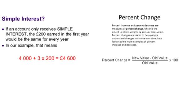 Simple Interest And Percent Change Quiz: Trivia