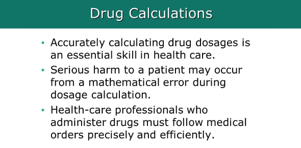 Pharmacology - Drug Dosage Calculation Unit Test # 2 - Version C