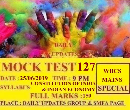 Daily Updates Mock Test 127