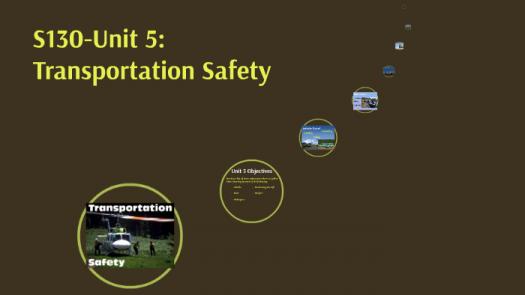 S-130 UNIT 5 Quiz - Transportation Safety
