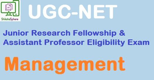 UGC NET (JRF & APEE) 2008 Dec: Management