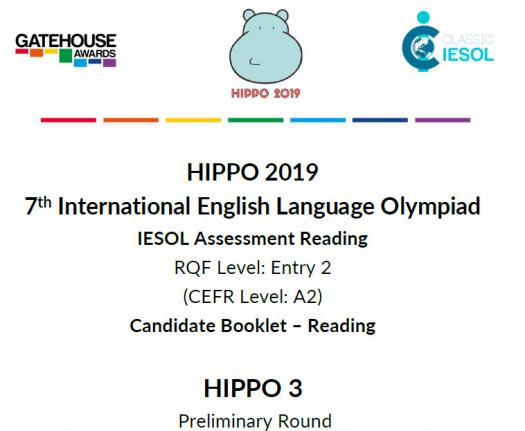 Hippo 3 CEFR A2- Reading