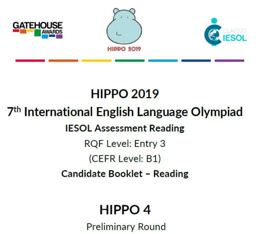 Hippo 4  CEFR B1- Reading