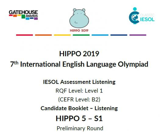 Hippo 5 and S1 CEFR B2- Listening