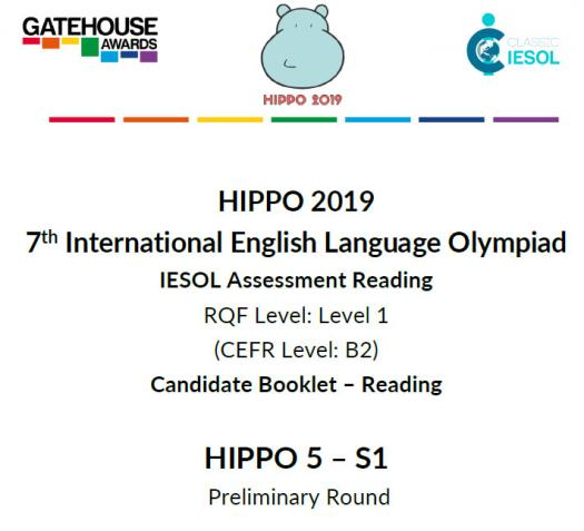 Hippo 5 and S1 CEFR B2- Reading