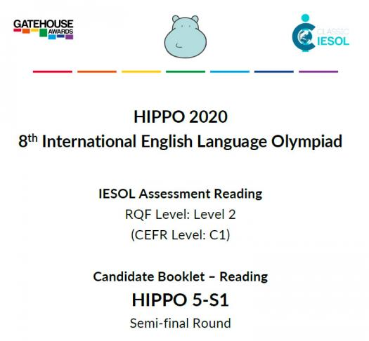 Hippo 5 / S1 Semi-final Reading 2020