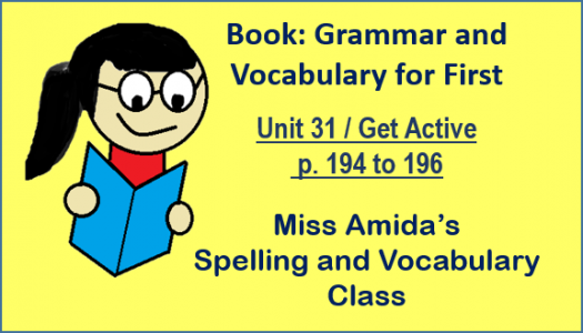 Spelling And Vocabulary Unit 31