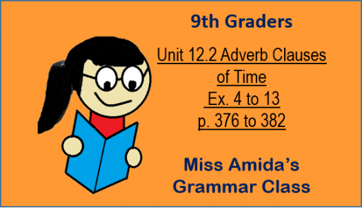 Unit 12.2 Adverb Clauses Of Time