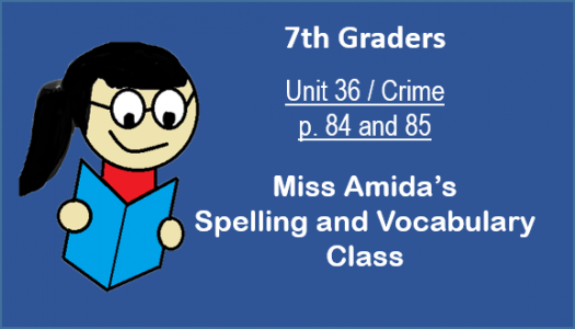 7th Spelling And Vocabulary Unit 36
