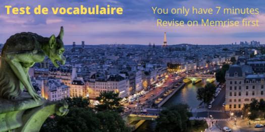 Y8 French Vocab Test U4l1