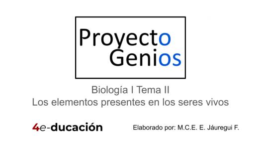 """Evaluaci�n Final De """"Los Elementos Presentes En Los Seres Vivos"""""""