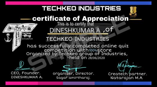 Techkeo Industries Presents Online Quiz Competition