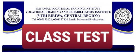 Vtri Biriwa - ICT Class Test  - July 2020