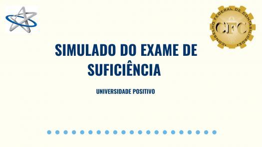 Simulado Exame De Sufici�ncia - Universidade Positivo