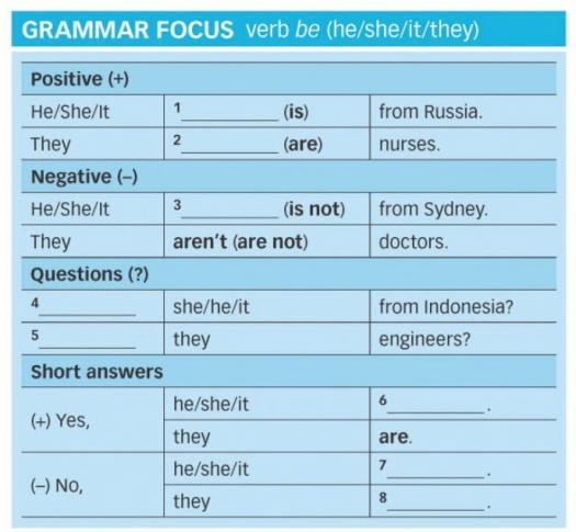 Grammar Quiz - Complete The Grammar Focus Box.