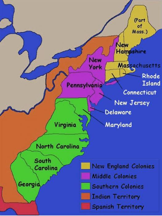 English colonies in north america ap