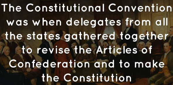 Which of the following is true about the delegates at the Constitutional Convention?