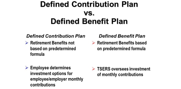 What is the difference between a defined contribution plan and a defined benefit plan?