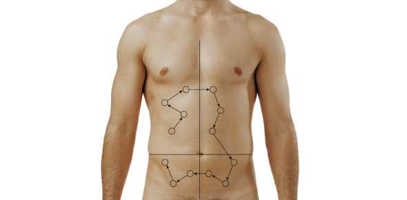 What should be done first if the nurse is planning to assess the abdomen of an adult male?