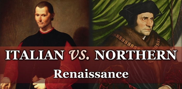 One of the differences between northern and southern renaissance is when they have started.