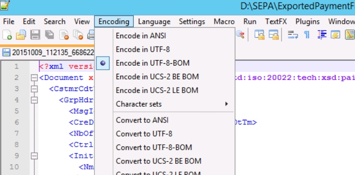 ANSI and UTF-8 are the two-character encoding schemes which are widely used at one point in time.