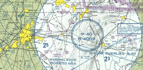 What happens if a plane flies in the airspace of Camp David?