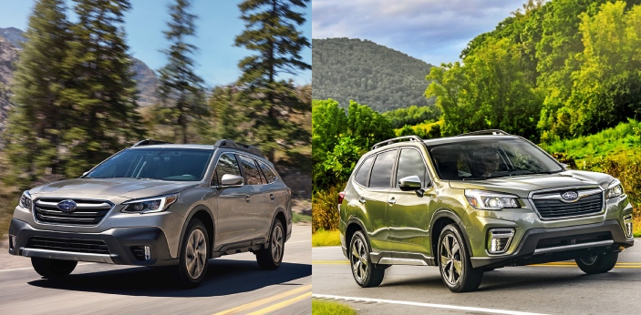 Forester and Outback are two types of Subaru's vehicles. Both Forester and Outback come with