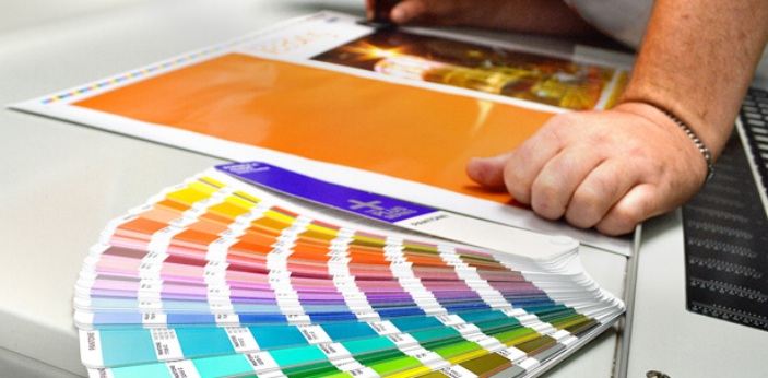 Offset printing, also known as lithography is done by burning your desired image to a plate. The