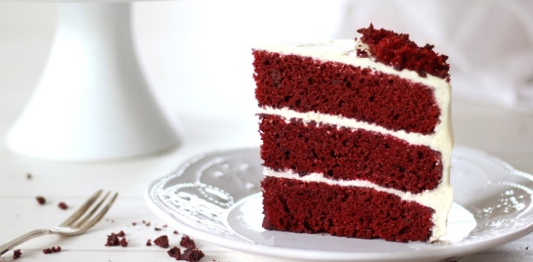 What is the simplest recipe for making red velvet cake?