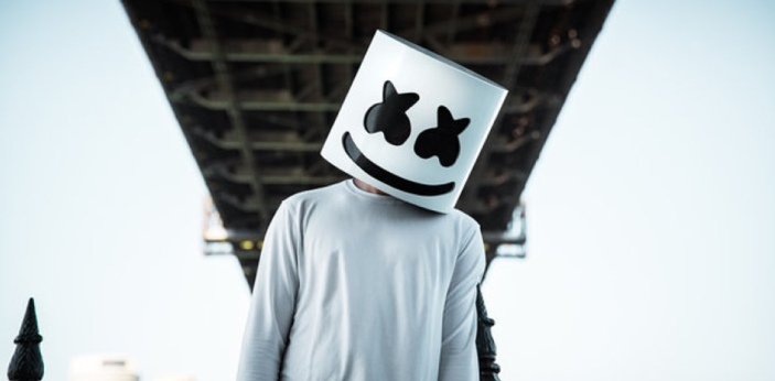 The correct answer is letter B. Christopher Comstock, or more famously called as Marshmello, had