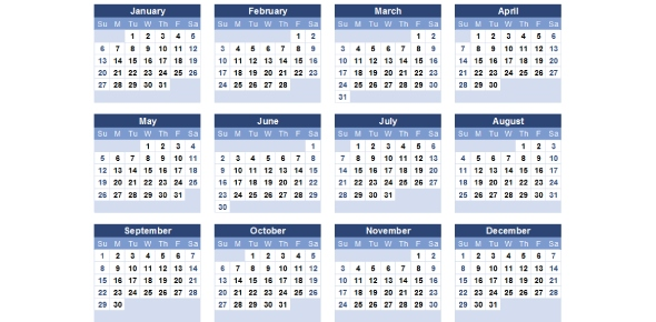 What purposes calendars are used for?