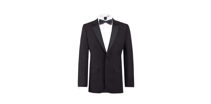 Tuxedo and dinner jackets are collections and articles of clothing. They are categorized as